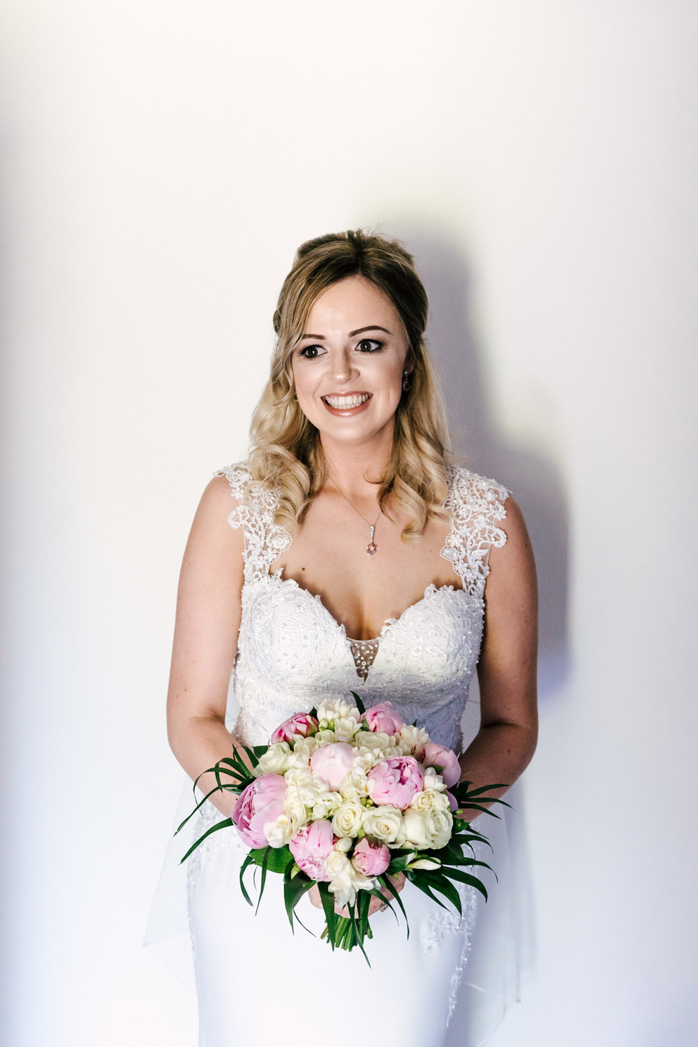 bridal prep portrait before her henley on thames wedding