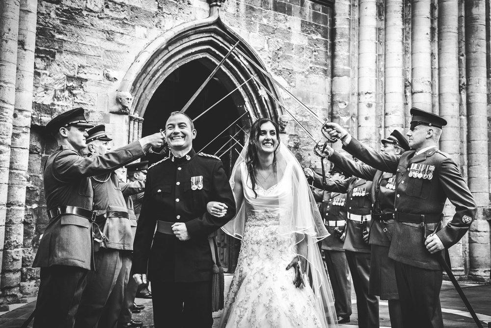 Military Wedding at Tewkesbury Abbey, Gloucestershire