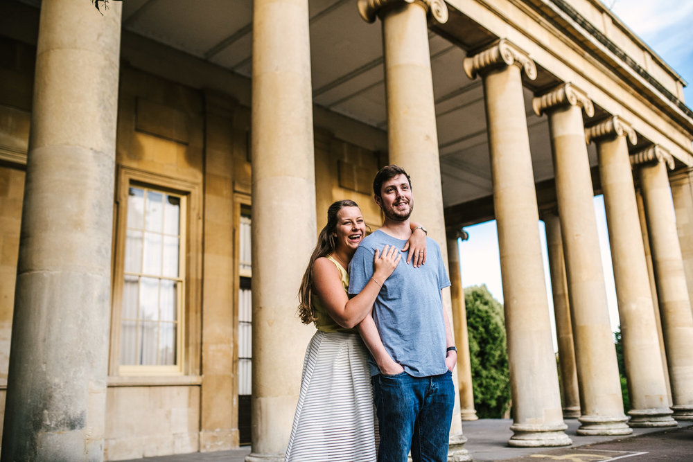 JAMES & JENNIE  - PITTVILLE PARK, CHELTENHAM PRE WEDDING SHOOT