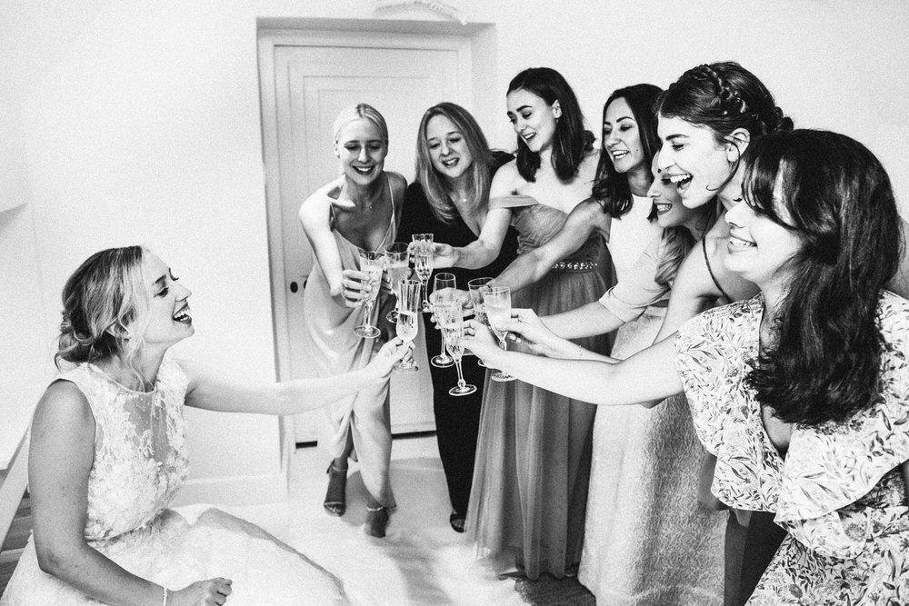bridal prep celebration