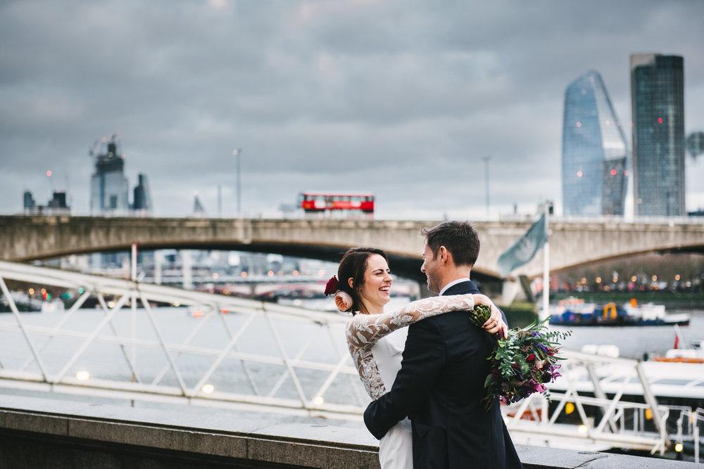 RELAXED DOCUMENTARY LONDON WEDDING