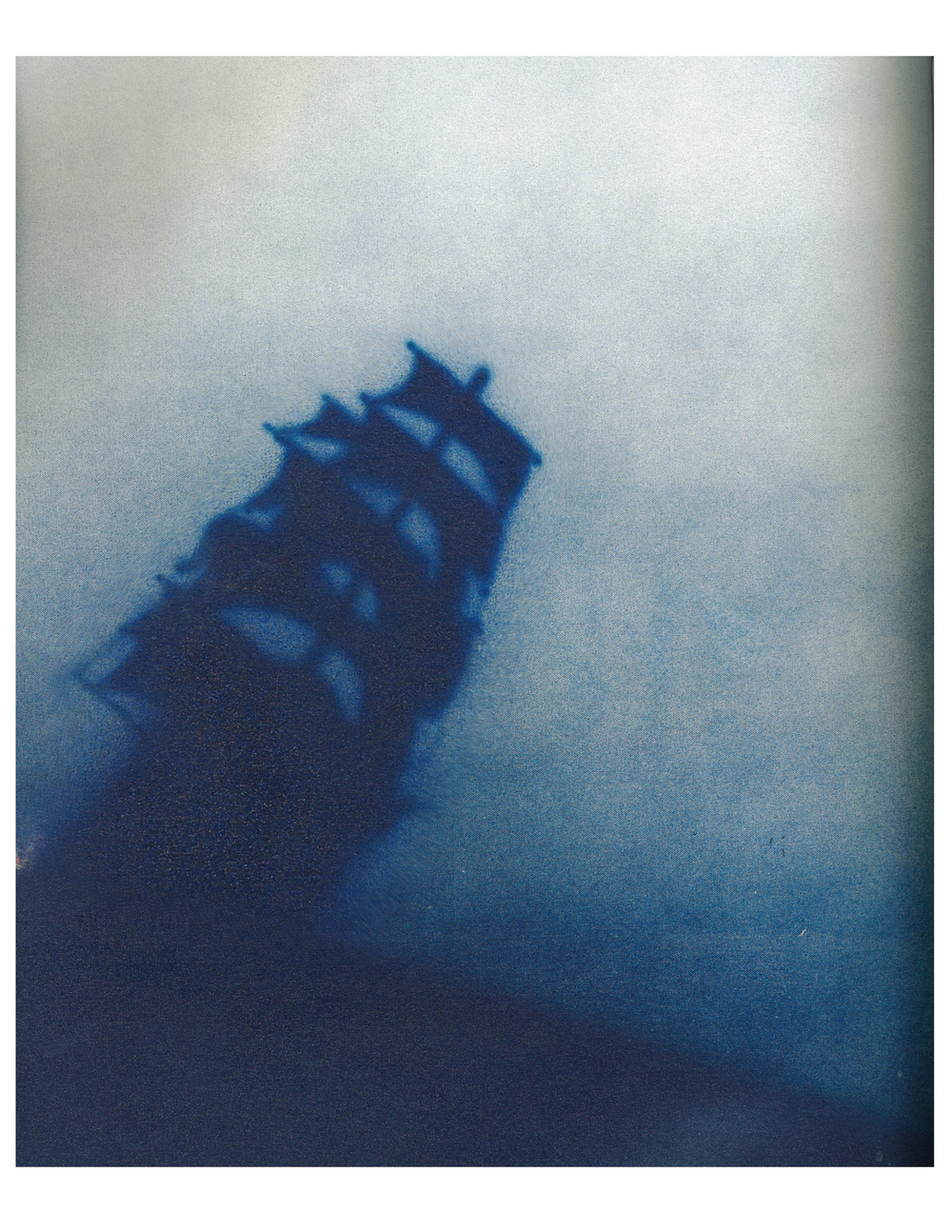 Ed Ruscha,  Ship Talk , 1988    acrylic on canvas    Image: Phillips Contemporary Art, London Evening Sale print catalog, June 29, 2015.