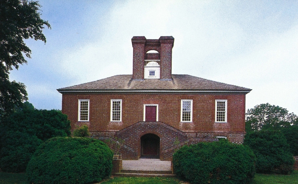 "The ""Great House"" at Stratford Stratford, Virginia  Image via  Houses of the Founding Fathers  The Federal Era, p. 206 Hugh Howard, photography by Roger Straus III Artisan, New York. 2007."