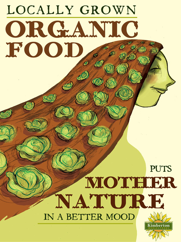 local organic produce campaign! — Kirsten Harper Illustration