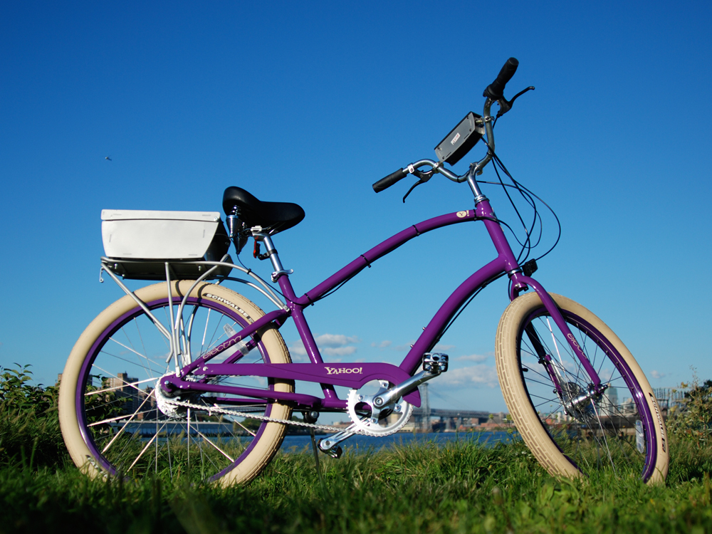 A solar powered, GPS enabled, photo taking, auto uploading bicycle.
