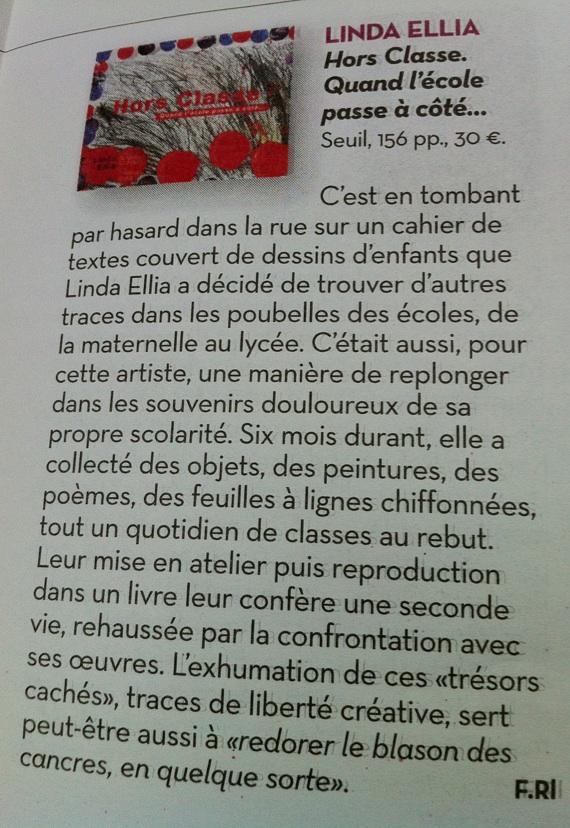 Article paru dans Libération en Novembre 2011, écrit par Frédérique Roussel