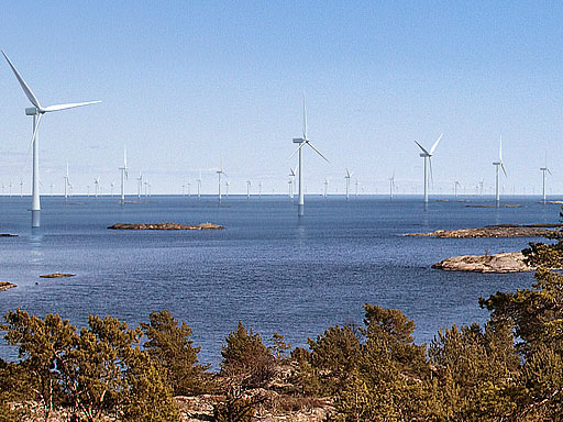 Vindkraftspark utanför Oxelösund