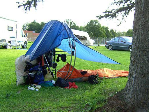 På flygluffen - campar i Rimforsa.