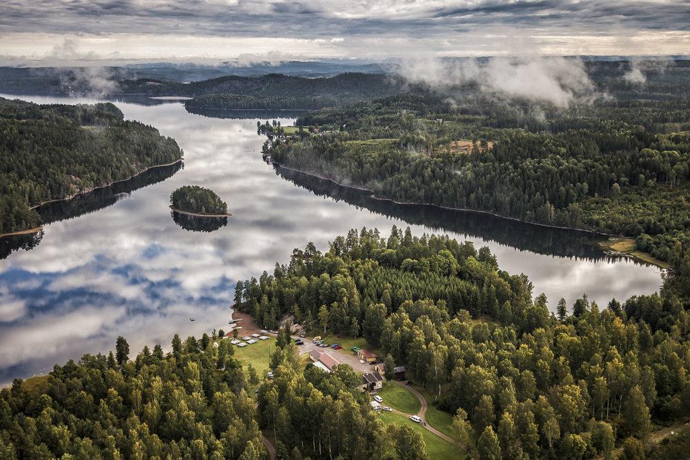 Kanotcentrum vid Västra Silen i Värmland