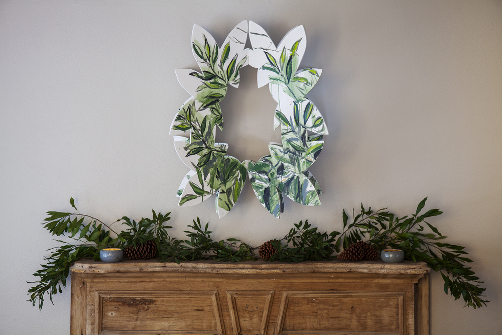 Wooden Christmas Wreath - designed by Mia Kaplan for Fig & Dove (click on image for more info)