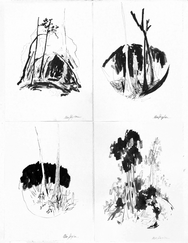 Ink drawings on Stonehenge paper