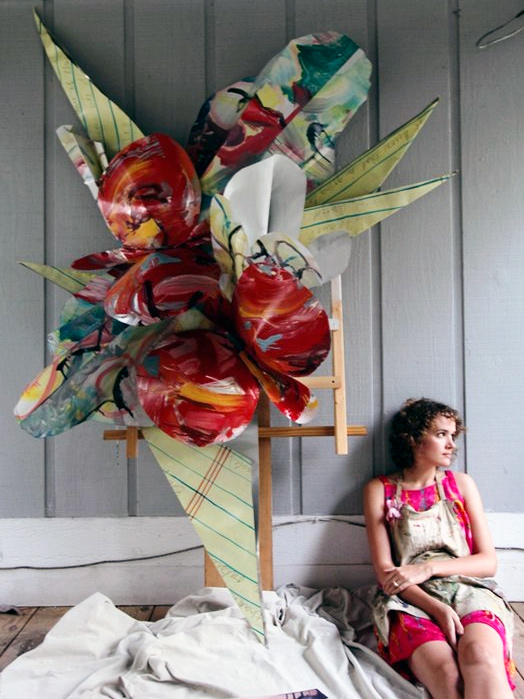 """Flowers for Peggy"". Painted Aluminum Wall Sculpture. Photo: Cedric Angeles"
