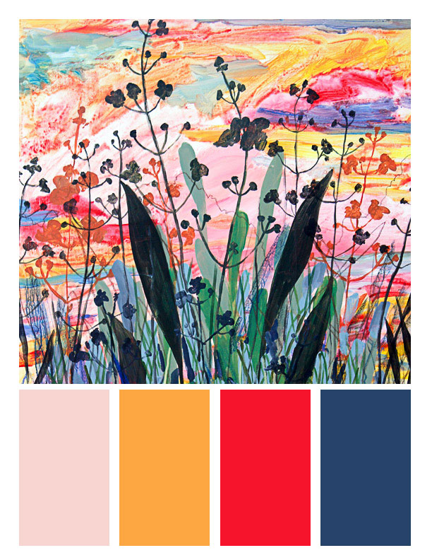 June Palette. Painted from Bayou Liberty in Slidell, LA.