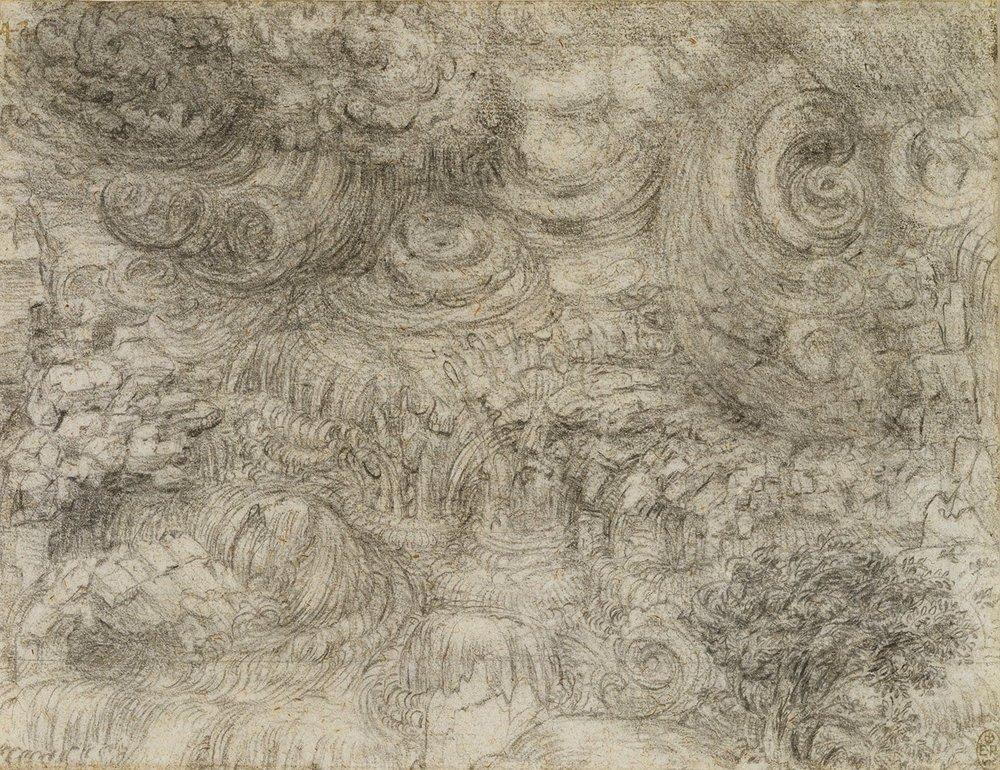 Leonardo da Vinci, A deluge, c.1517-18