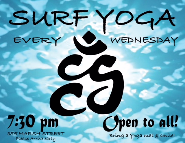 Surf Yoga is on HOLD - We're taking the summer off! See you in the fall!