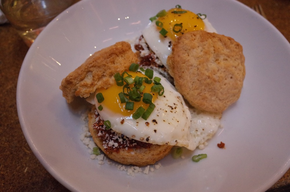 Chorizo and egg biscuits