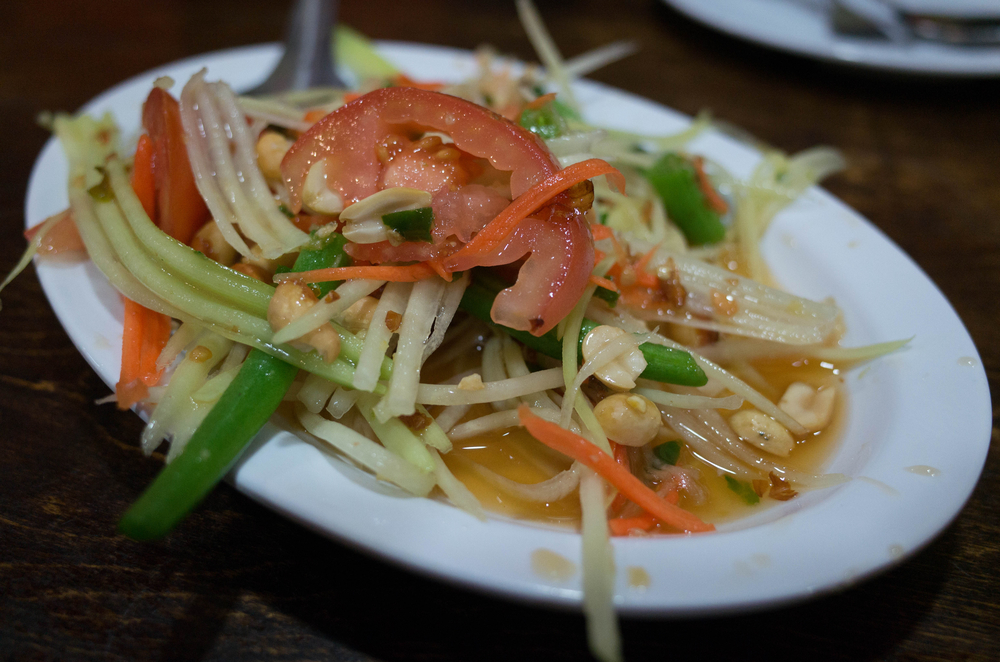 A nice papaya salad