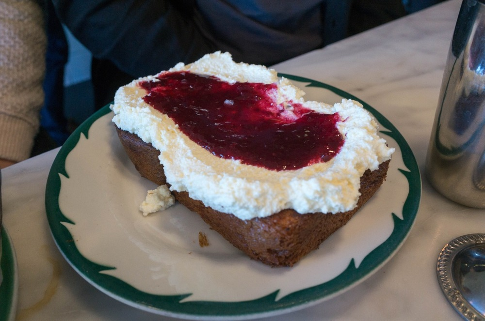 Popular Order: Toast with ricotta and jam