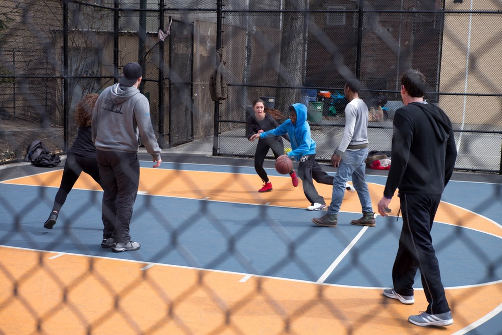 Some West 4th Street Basketball (located outside the West 4th Street subway station on 3rd Street).