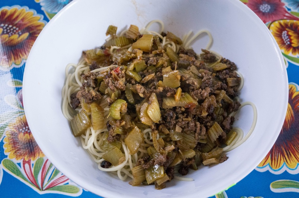 Another 101 Easy Asian recipe, Spicy Beef and Celery.