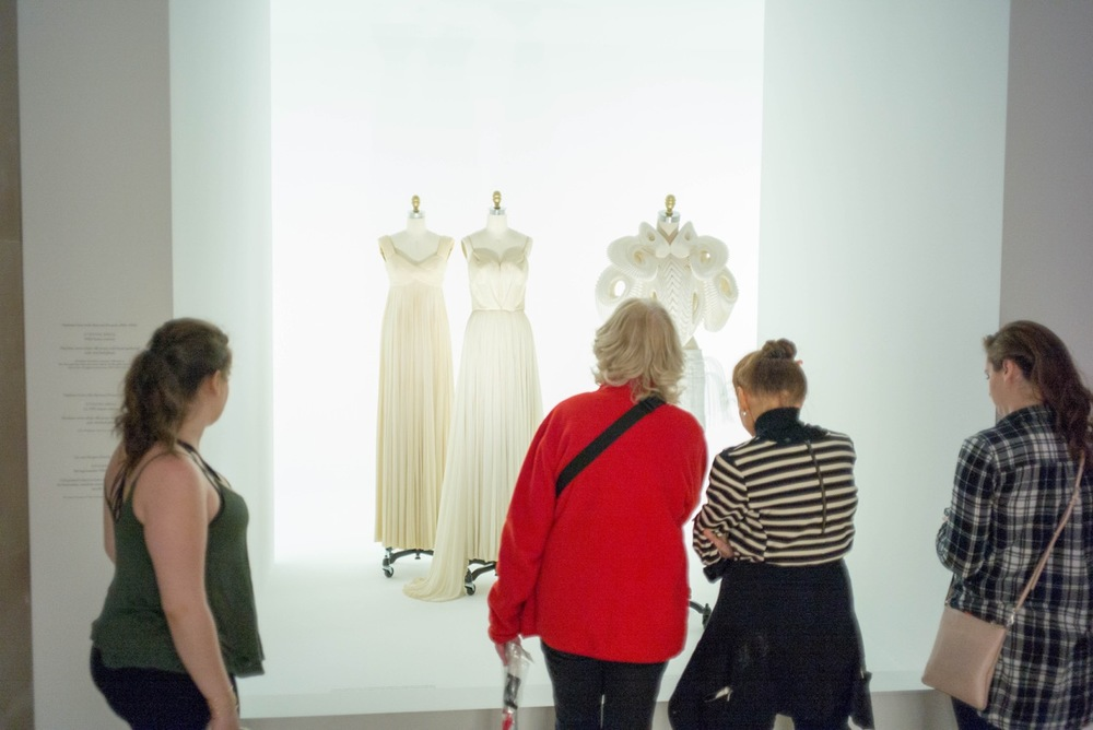 High fashion museum exhibit, high fashion gift shop, get your $300+ t-shirts and fancy purses here