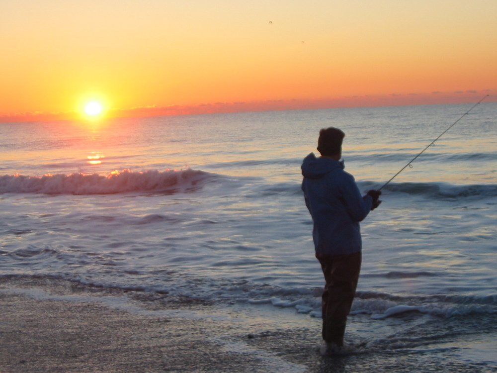 Sanford Thompson fishing the Outer Banks NC