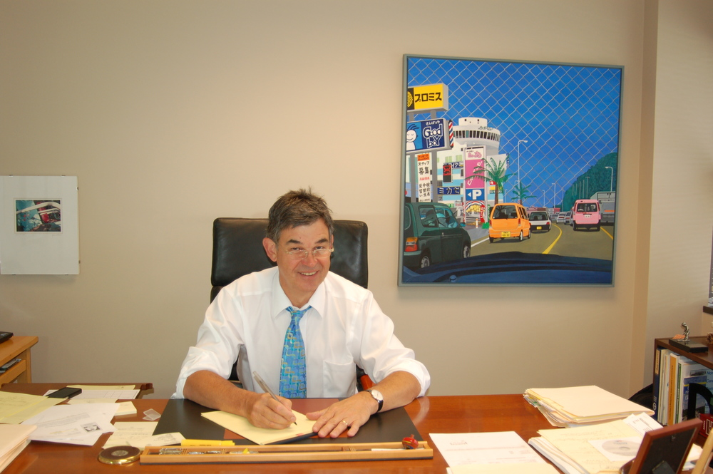 Sanford Thompson in the office
