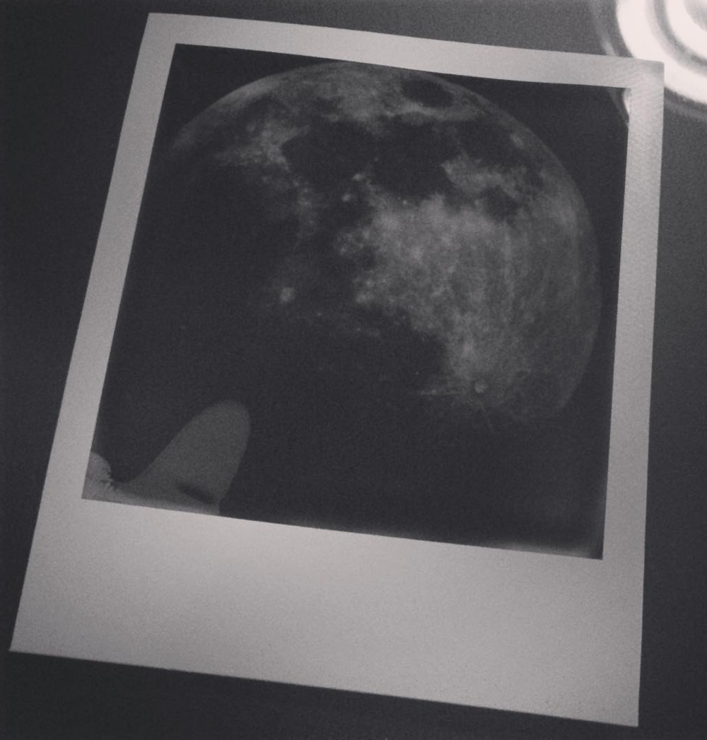 Moon appearing on Impossible print