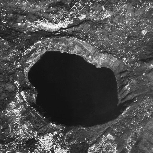 Lake Albano, as seen from ESA Proba satellite