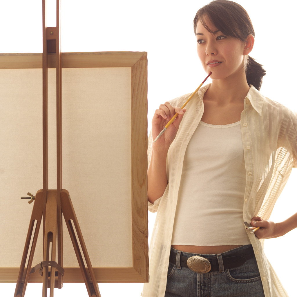 Fine Art Painter Contemplating Canvas 2003