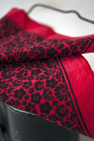 Red Field Hanky - available in our textile shop