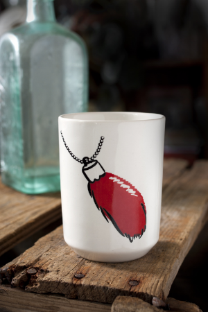 Rabbit's Foot Tumbler - available in our ceramic shop