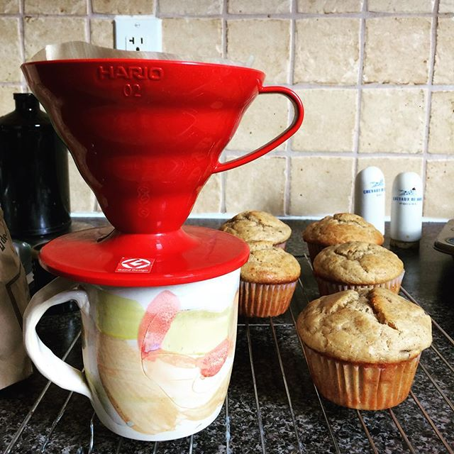 Dianne Lee with banana muffins - a perfect match! #homemade #handmade