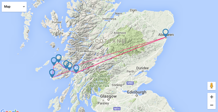 Route map Scotland