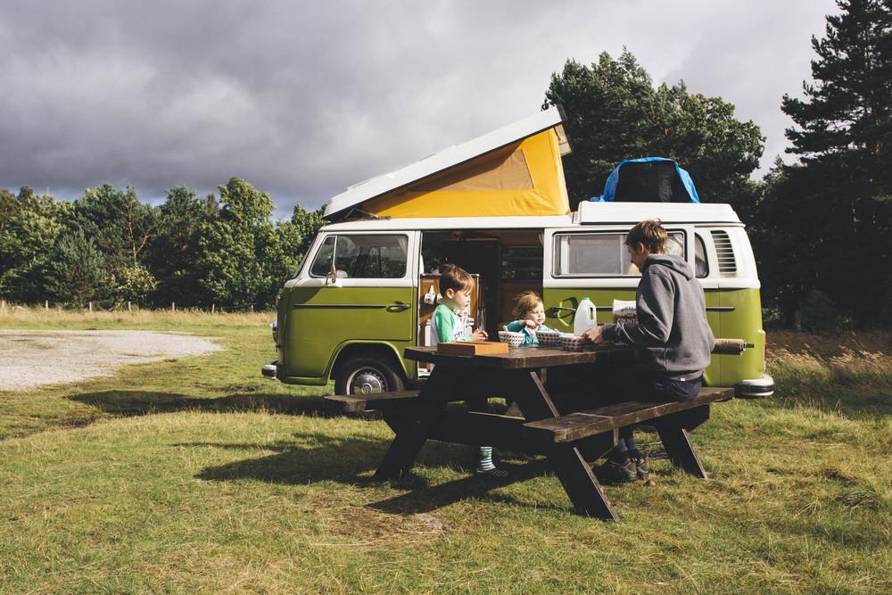 VW campervan, Scotland
