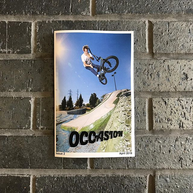 🚦Second issue of the @occasionzine from @joshuven available now. Hit up the shop or website to grab one. All orders come with the latest @challengerbmxmag free of charge. . @occasionzine #theoccasionzine