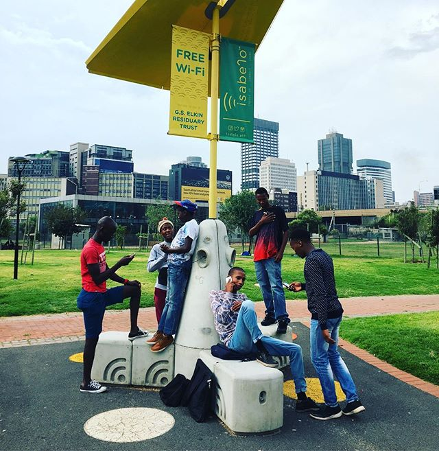 Interviews with @beautifulnewssa at Metro Park. #cityparks #freeWiFi #loveyourparks #publicaccess #smartbench #johannesburg #southafrica