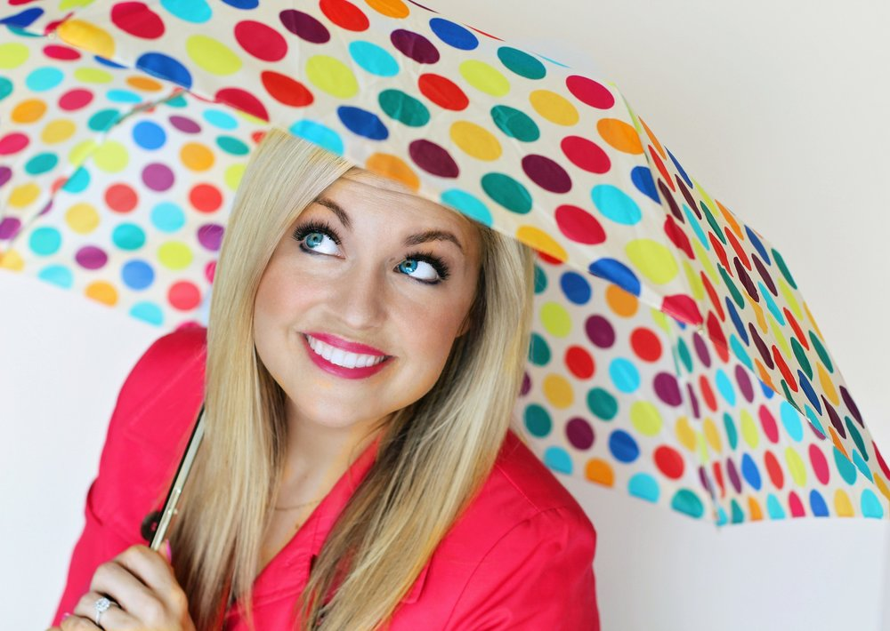 rainbow dots umbrella
