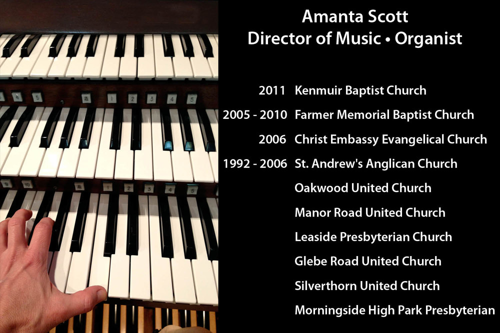 Amanta Scott - Organist/ Music Director