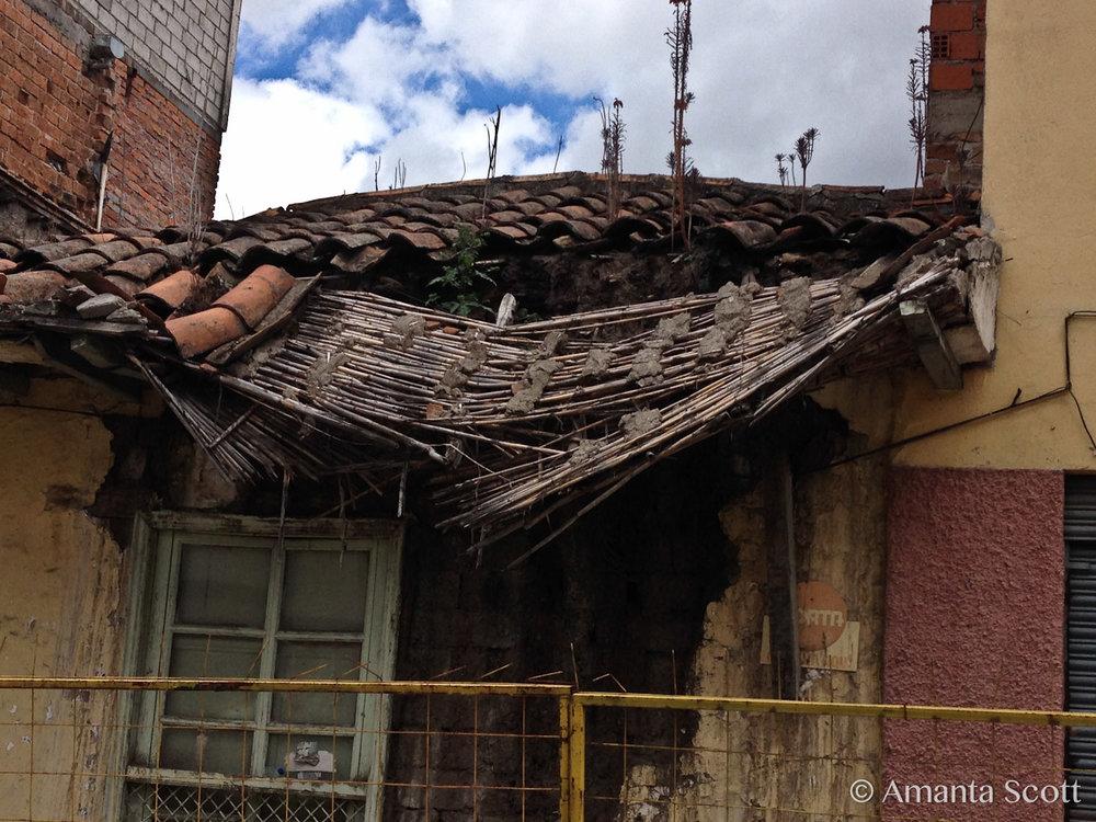 fallen roof detail
