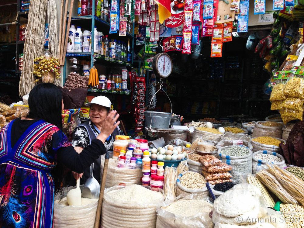 La abuela del mercado con Maria Paz