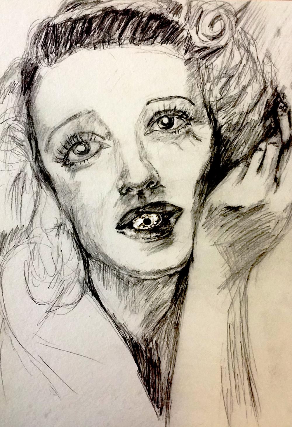 from the sketch books: betty davis eye