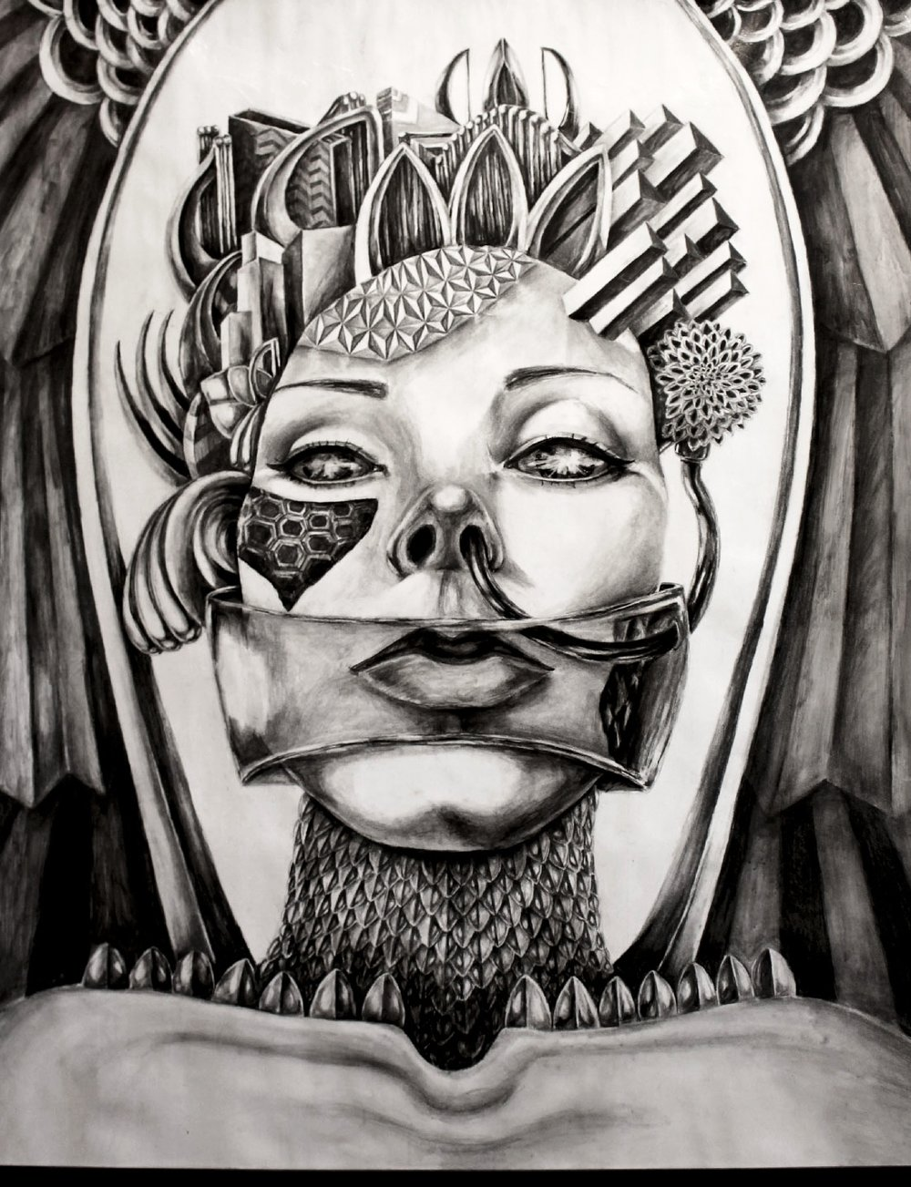 "AMB-R  Graphite and Ink on paper/44""x34"""