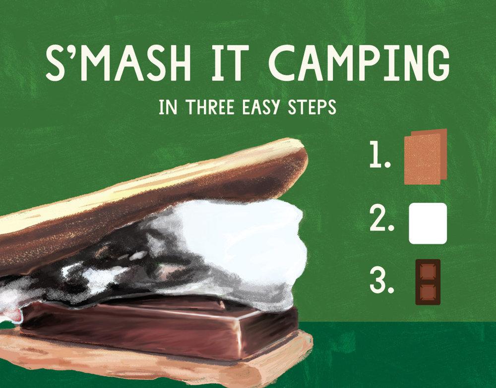 S'mores/camping endcap