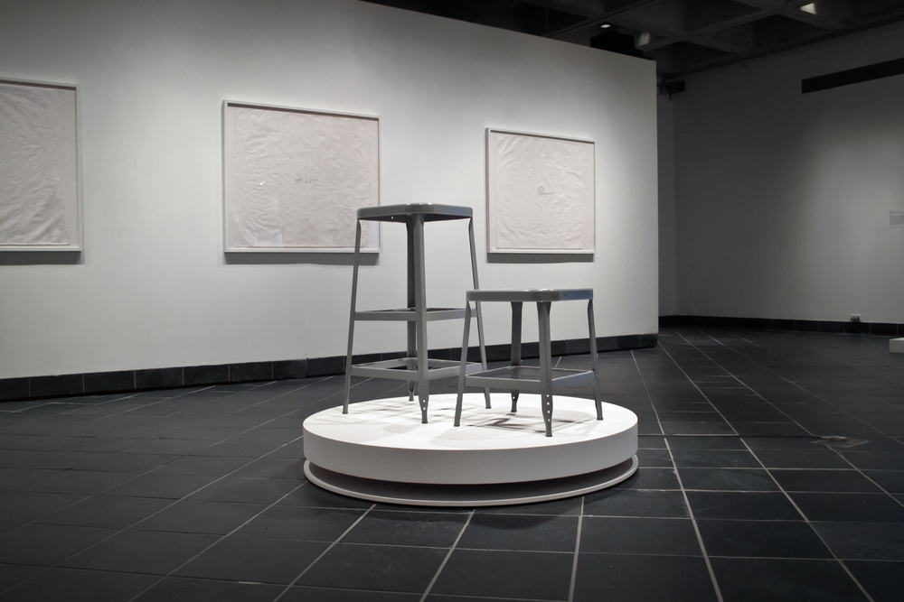 Installation view of the stools