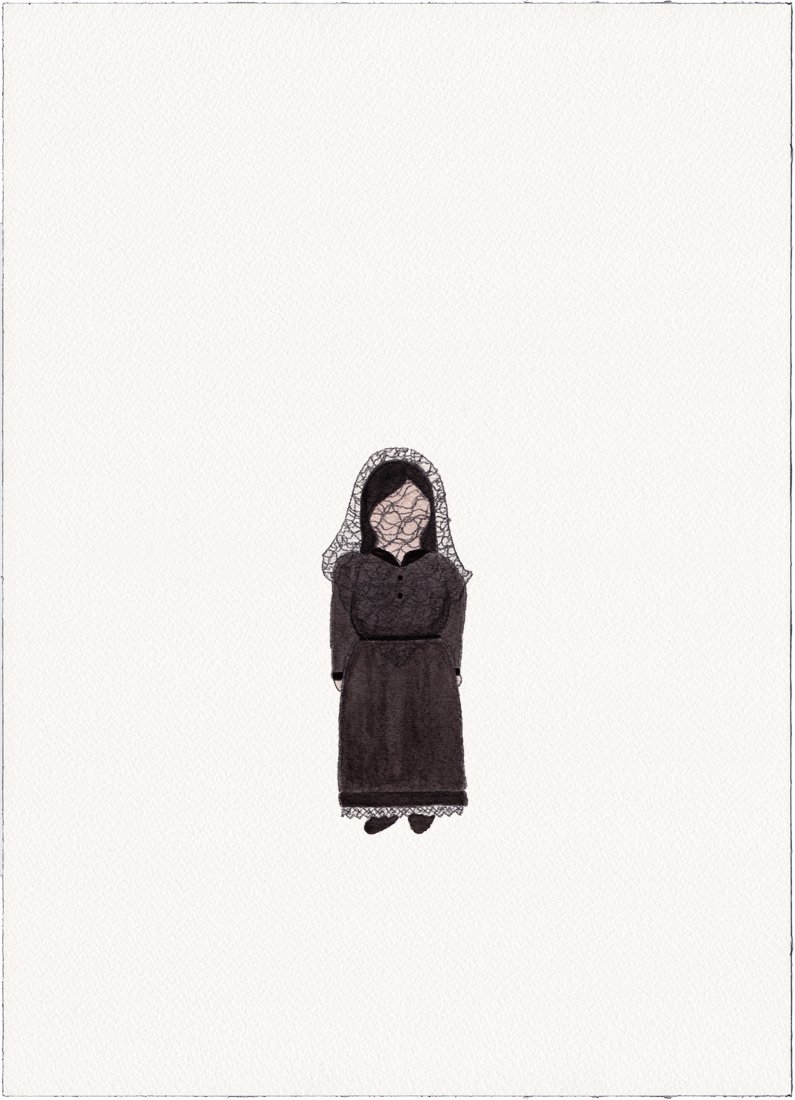 Mourning, 2014 (Drawing)