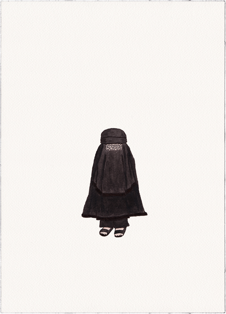 Burqa, 2014 (Drawing)