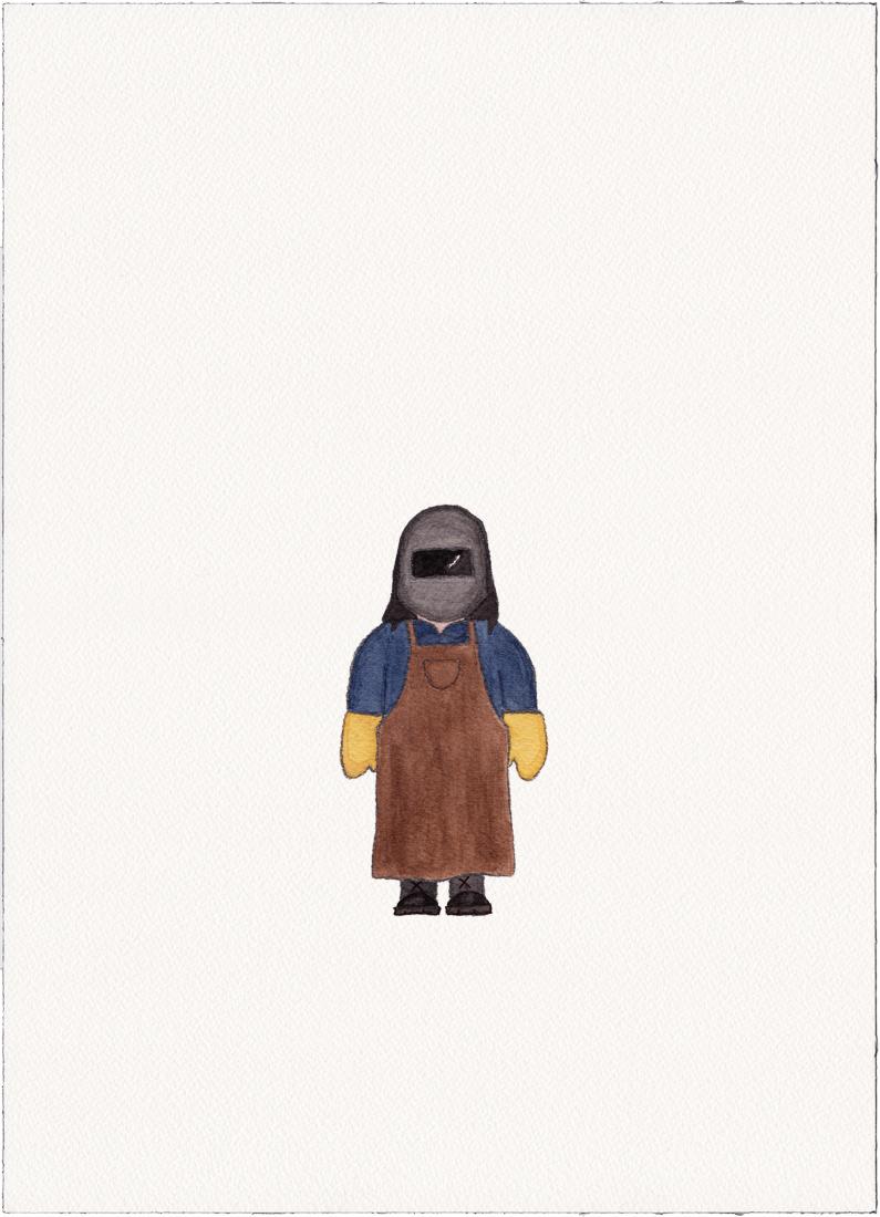 Welder, 2014 (Drawing)