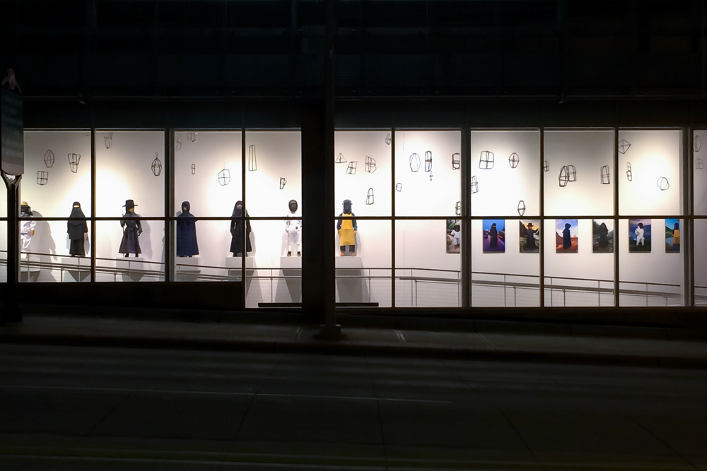 Street view of the installation at the UICA in Grand Rapids, Michigan, 2015