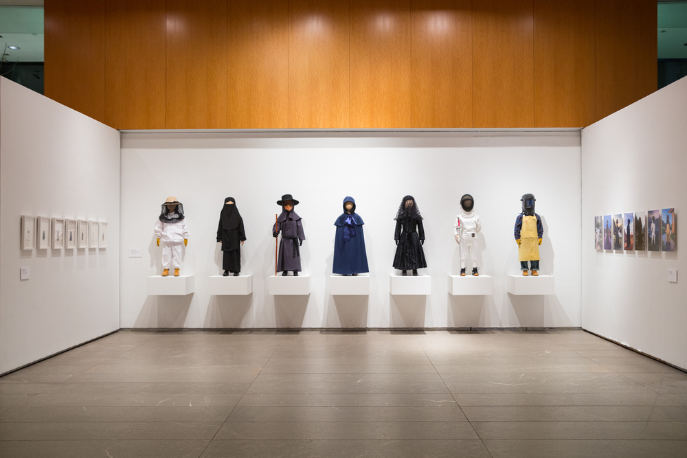 "Installation view of ""Uniforms"""